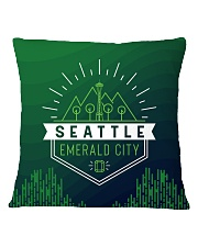 Seattle Emerald City Pattern Square Pillowcase thumbnail
