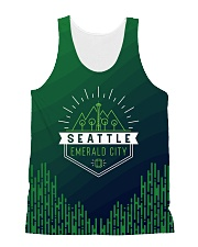 Seattle Emerald City Pattern All-over Unisex Tank thumbnail