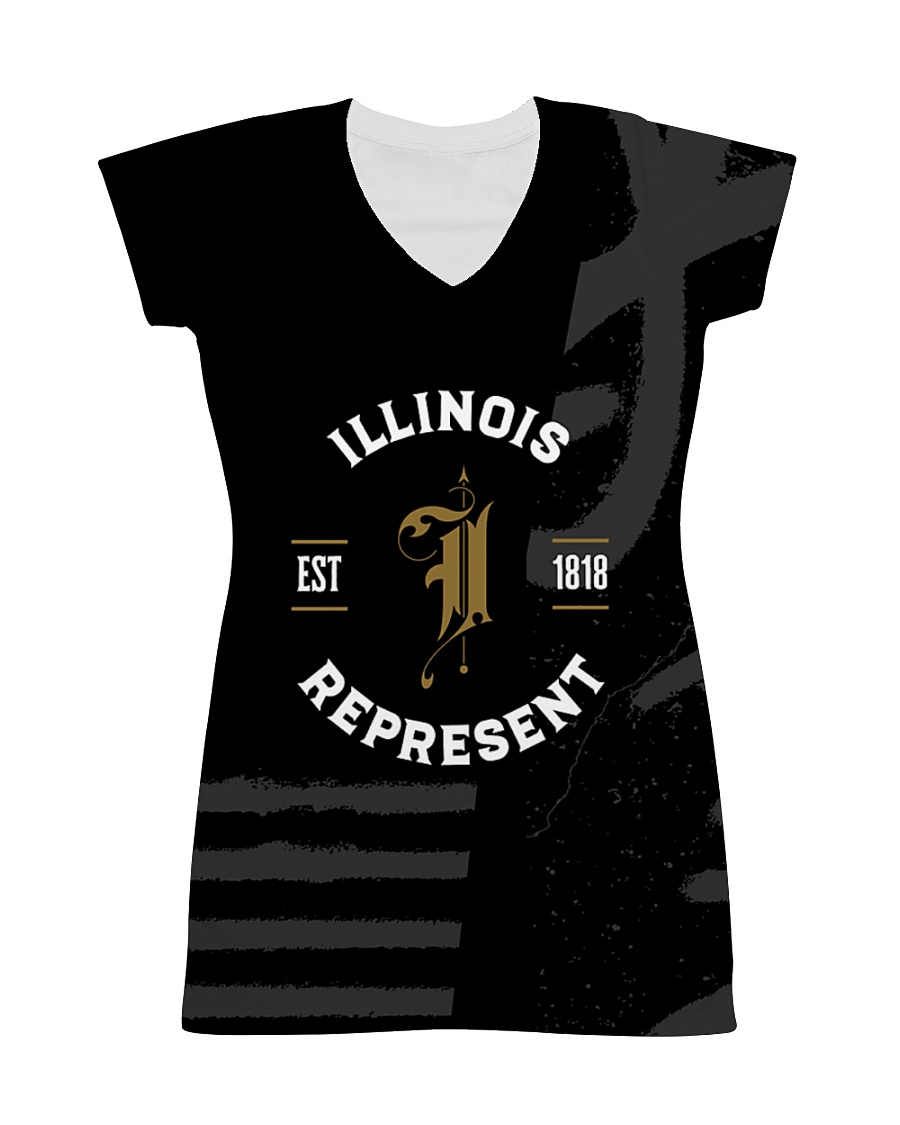 Illinois Represent Pattern All-over Dress