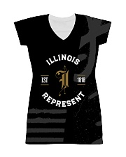 Illinois Represent Pattern All-over Dress front