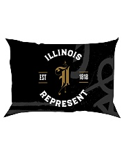 Illinois Represent Pattern Rectangular Pillowcase thumbnail