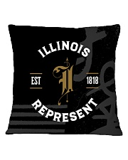Illinois Represent Pattern Square Pillowcase thumbnail