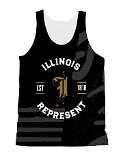 Illinois Represent Pattern All-over Unisex Tank thumbnail