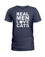 Real Man Love Cats Ladies T-Shirt thumbnail