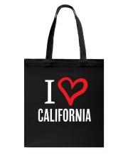 I Heart California Tote Bag thumbnail