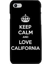 Keep Calm And Love California Phone Case thumbnail