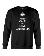 Keep Calm And Love California Crewneck Sweatshirt thumbnail