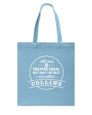 Only the Best Men are Called Collins Tote Bag thumbnail