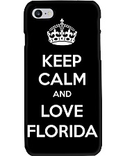 Keep Calm And Love Florida Phone Case tile
