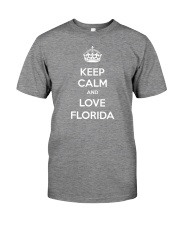 Keep Calm And Love Florida Premium Fit Mens Tee tile