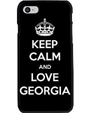 Keep Calm and Love Georgia Phone Case thumbnail