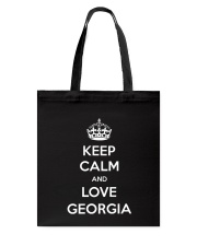 Keep Calm and Love Georgia Tote Bag thumbnail