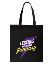 Legends Are Born In January Tote Bag thumbnail