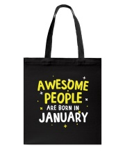 Awesome People Are Born In January Tote Bag thumbnail