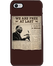 MLK Day At Last Newspaper Phone Case thumbnail