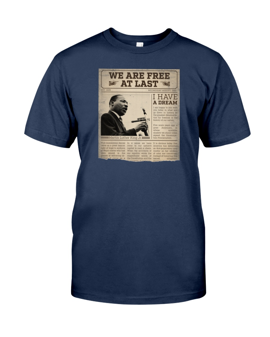 MLK Day At Last Newspaper Classic T-Shirt