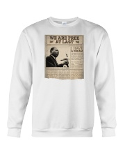 MLK Day At Last Newspaper Crewneck Sweatshirt thumbnail