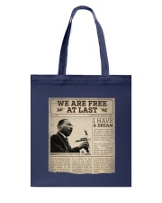 MLK Day At Last Newspaper Tote Bag thumbnail