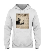 MLK Day At Last Newspaper Hooded Sweatshirt thumbnail