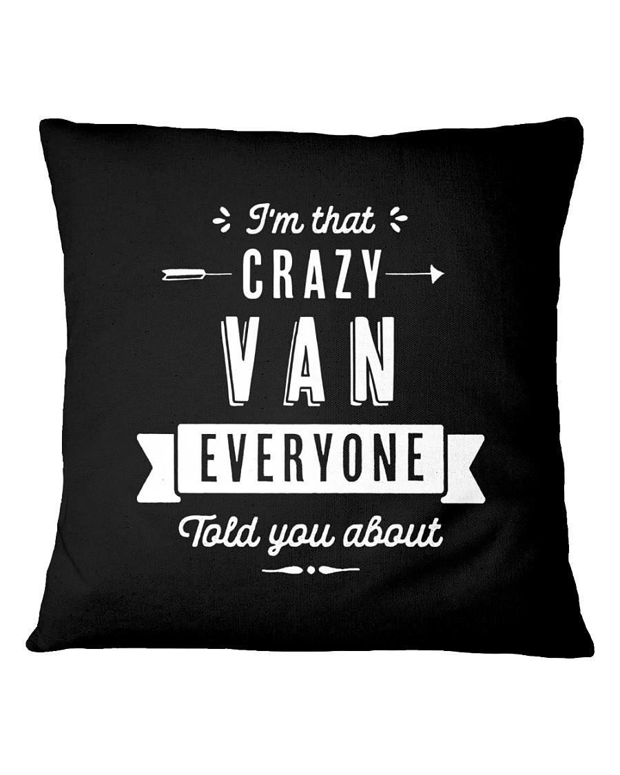 That Crazy Van Square Pillowcase