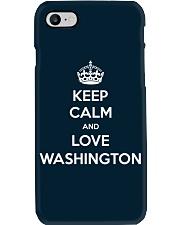 Keep Calm Love Washington Phone Case thumbnail