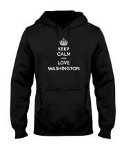 Keep Calm Love Washington Hooded Sweatshirt thumbnail