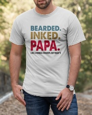 Beared Inked Papa Classic T-Shirt apparel-classic-tshirt-lifestyle-front-53