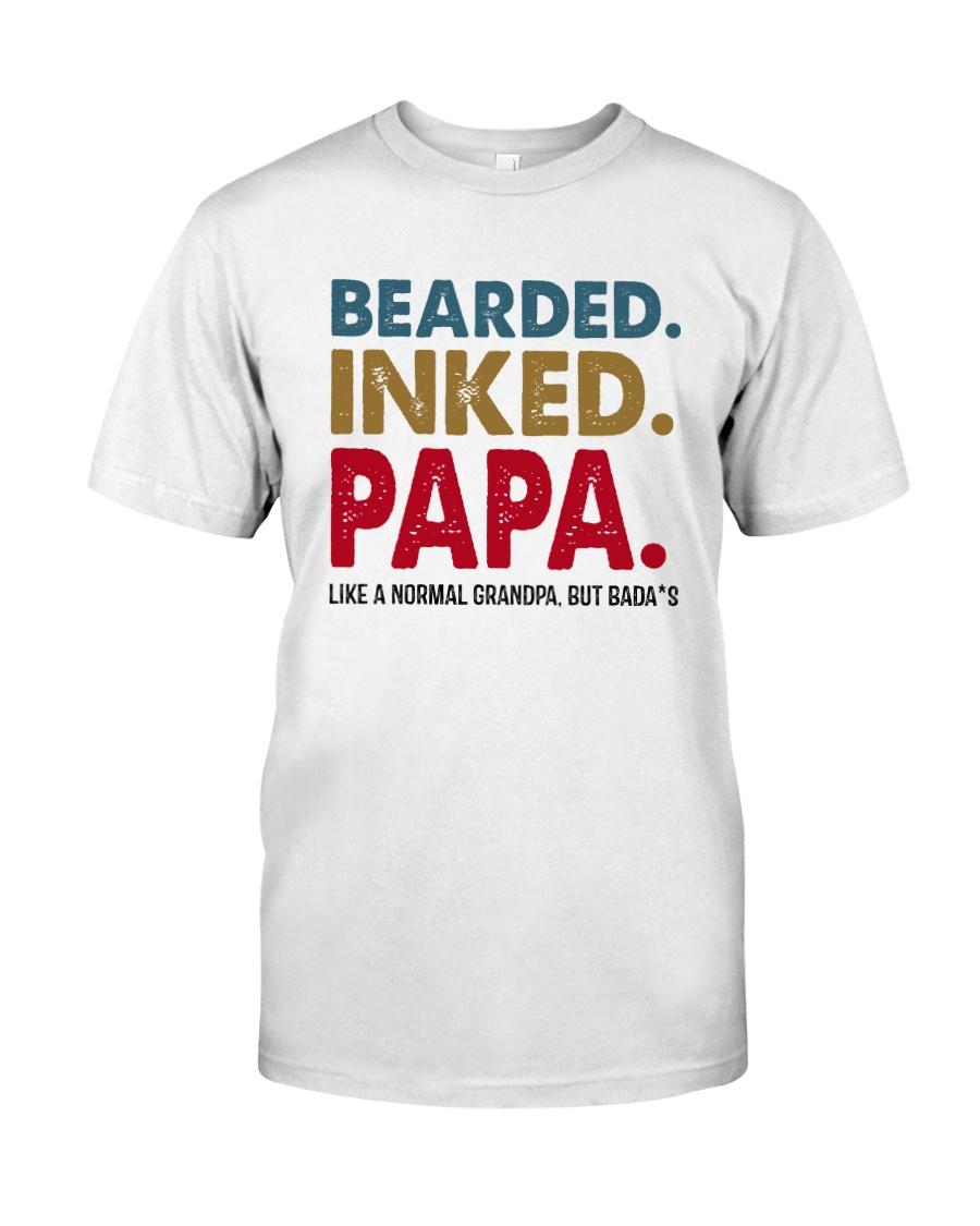 Beared Inked Papa Classic T-Shirt