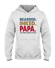 Beared Inked Papa Hooded Sweatshirt thumbnail