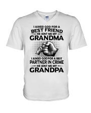 Grandma is my best friend V-Neck T-Shirt thumbnail