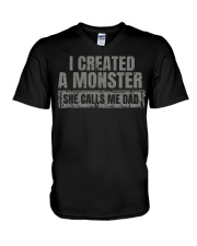 New Edition - I Created A Monster V-Neck T-Shirt thumbnail