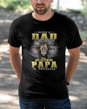 Being Papa Is Priceless Classic T-Shirt apparel-classic-tshirt-lifestyle-front-50