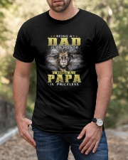 Being Papa Is Priceless Classic T-Shirt apparel-classic-tshirt-lifestyle-front-53