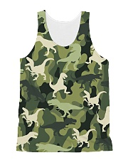 Army Dinosaur  All-over Unisex Tank front