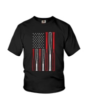 American Flag Vintage Baseball Flag T-Shirt Youth T-Shirt thumbnail