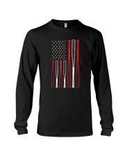 American Flag Vintage Baseball Flag T-Shirt Long Sleeve Tee thumbnail