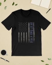 Mens Mens Best Dad Ever American Flag Police Classic T-Shirt lifestyle-mens-crewneck-front-19