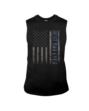 Mens Mens Best Dad Ever American Flag Police Sleeveless Tee thumbnail