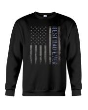 Mens Mens Best Dad Ever American Flag Police Crewneck Sweatshirt thumbnail