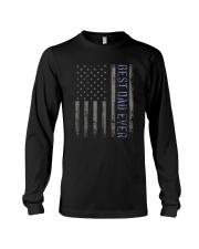 Mens Mens Best Dad Ever American Flag Police Long Sleeve Tee thumbnail