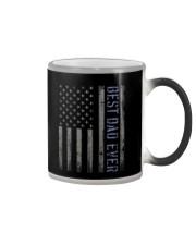 Mens Mens Best Dad Ever American Flag Police Color Changing Mug thumbnail