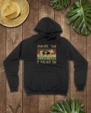 Smoke 'Em If you Got 'Em BBQ Shirt Hooded Sweatshirt lifestyle-unisex-hoodie-front-7
