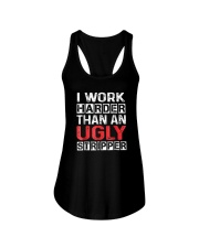 I Work Harder Than An Ugly Stripper Funny Quote Ladies Flowy Tank thumbnail