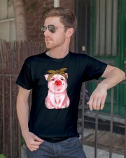 love pig pig lover pig animal loves shirt Classic T-Shirt lifestyle-mens-crewneck-front-2