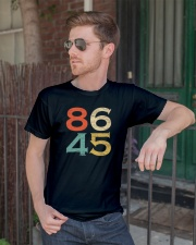 Classic Vintage Style 86 45 Anti Trump T-Shirt Classic T-Shirt lifestyle-mens-crewneck-front-2