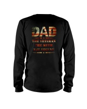 Best selling Dad the Veteran the Myth the Legend T Long Sleeve Tee thumbnail