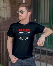 Fireworks Director I Run You Run - Funny 4th July Classic T-Shirt lifestyle-mens-crewneck-front-2