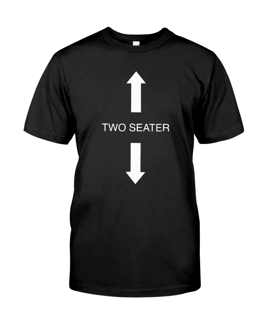 Two Seater Arrow Funny Novelty Shirt Classic T-Shirt