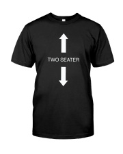Two Seater Arrow Funny Novelty Shirt Premium Fit Mens Tee thumbnail
