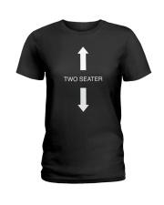 Two Seater Arrow Funny Novelty Shirt Ladies T-Shirt thumbnail